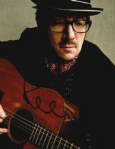 Elvis Costello Autograph Photo